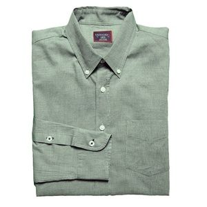 UNTUCKit Mens Cotton Micro Check Dress Shirt Green